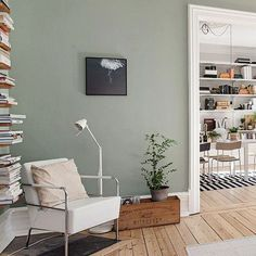 Whether it's a modern bedroom or rustic kitchen, sage is a wise idea. New Neutral If you love using natural materials in neutral hues, sage is an excellent complement to enhance the shades. Source by Sage Green Bedroom, Sage Green Walls, Green Bedroom Decor, Living Room Green, Living Room Colors, Living Room Decor, Sage Green Paint, Living Rooms, Green Wall Color
