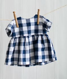 Blue Gingham Blouse photo - use O & S Playtime Tunic pattern