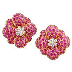 1stdibs - VAN CLEEF & ARPELS Diamond & Pink Sapphire Earrings explore items from 1,700  global dealers at 1stdibs.com