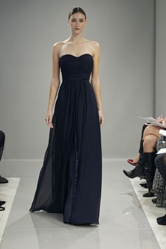 Monique Lhuillier Bridesmaids Dress - Fall 2013 - Love this one in champagne.
