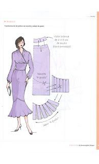 Costura,Patrones y mucho mas: Libro de Oro Hermenegildo Dress Sewing Patterns, Blouse Patterns, Clothing Patterns, Sewing Hacks, Sewing Tutorials, Sewing Crafts, Pekinese, Sewing Alterations, Pattern Drafting
