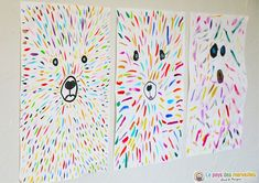 Ours coloré (art visuel et graphisme) A colorful bear that was simply made with colored lines. A visual art and graphic activity for kindergarten and primary school children. Diy For Kids, Crafts For Kids, Arts And Crafts, Art Crafts, Summer Crafts, Summer Art, Summer Kids, Preschool Art Activities, Kindness Activities