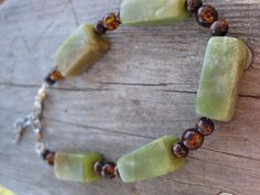 Antique Jade Beaded Bracelet Antique Jade and by RusticHandmadeMS