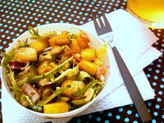 Salada agridoce de alface frisè commanga