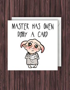 Debby Card. Harry Potter Birthday Card. Funny Greetings Card. Geek Blank Card. by TheDandyLionDesigns on Etsy