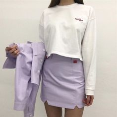 Korean fashion purple purple fashion purple aesthetic purple ulzzang fashion purple outfits purple outfits purple dress purple skirt purple hoodie purple shirt purple ethereal fashion L e l i a L' a r t Lila Outfits, 30 Outfits, Purple Outfits, Korean Outfits, Cute Outfits, Spring Outfits, K Fashion, Asian Fashion, Fashion Outfits
