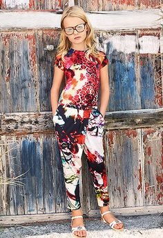 Richmond Jr by Melijoe.com, Spring/Summer 2014 Jumpsuit - floral summer fresh - tween fashion