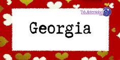 Conoce el significado del nombre Georgia #NombresDeBebes #NombresParaBebes #nombresdebebe - http://www.tumaternidad.com/nombres-de-nina/georgia/
