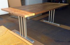 Design Dining Table Legs Three Bars by MetalAndWoodDesign on Etsy