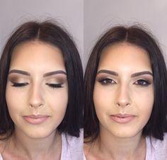 Highlight & contour Nude eyes with a splash of gold, kinda Makeup! #makeup #prom #wedding #contour #highlight #falselashes https://www.instagram.com/camiljc/