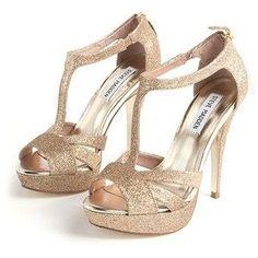 Steve Madden Glittery Gold Heels
