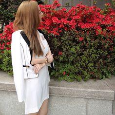 The Mini Blazer worn by Nicole Yoone #FevrieFashion