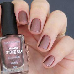 Esmalte Mistery da @panvelfarmacias | Unhas Marrom Metálizo | Metalic Brown Nails | Nail Art | Nail design | Unhas decoradas | by @morganapzk