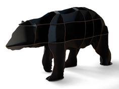 ibride Bear Bookshelf/イブリッド-ベアブックケース/本棚