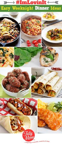 With the busy back to school season upon us, I'm always looking for simple, great-tasting EASY WEEKNIGHT DINNER IDEAS at TidyMom.net