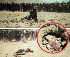 """""""Don't kill me."""" """"Don't kill me,"""" cries 13 year old Somali girl before she is stoned to death for being a rape victim An innocent little girl, Aisha Ibrahim Duhulow, was forced into a hole, buried up to her neck then pelted with stones by more than 50 MUSLIM men until she died in front of 1,000 jeering spectators. 2010"""