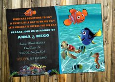 Finding Nemo Printable Invitations Get Your Baby Shower Off On