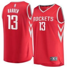 641b5d21adb9 Men s Houston Rockets James Harden Fanatics Branded Red Fast Break Replica  Jersey - Icon Edition Rockets