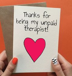 Funny thank you or birthday card for best friend. Not got an occasion? Pin it to your gift ideas and save it for later