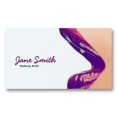 Makeup Artist Business Card. 50% off with coupon code DEALBIZCARDS May 20th-22nd