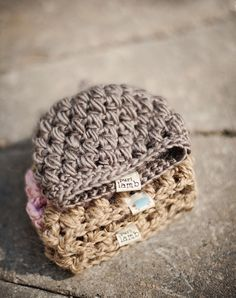 Crochet Preemie and child , Baby Puffy Hat  Free Pattern