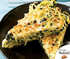 This Linguine Frittata With Greens recipe is ideal for a meatfree dinner. For the full recipe, click here: http://ablog.link/4fi. #MeatfreeMonday #Nulaid