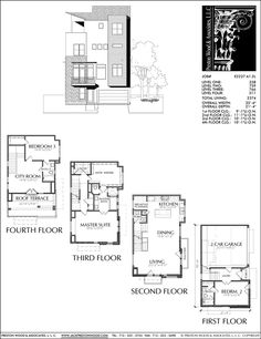 Urban house plan d0076 pinterest layouts urban and nice townhouse plan e2237 a12 malvernweather Image collections