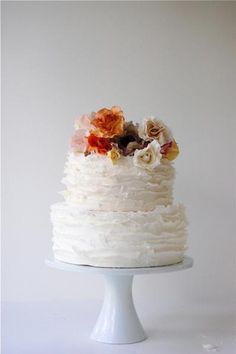 Maggie Austin Cake floral print Product Feature   cake cakes desserts eat fall food let orange rusti