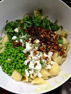 Conchiglie with Yogurt, Peas and Chile- from Jerusalem: A Cookbook #chutzpahinthekitchen