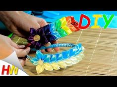 DIY for Girls : How to Make Beautiful Satin Ribbon Flower Accessories| Kanzashi Hair Accessories - YouTube
