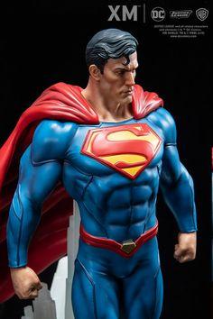 Rebirth Series - Superman-XM Studios is excited to present the next DC Premium Collectibles DC Rebirth series statue, Superman! The Man of Steel i Superman Movies, Superman 1, Superman Man Of Steel, Superman Action Figure, Batman, Marvel Statues, Dc Rebirth, Univers Dc, Male Figure