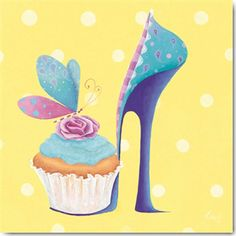 Shoes & cupcakes!  My life's now complete!