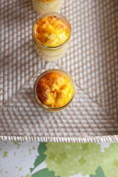 Breakfast casserole in a Mason jar