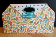 Stamp & Scrap with Frenchie: 10 x 10 Designer purse Perfect for chocolate