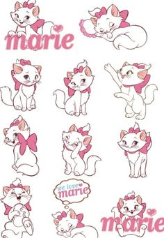 Vector Disney Marie Cat Set 02