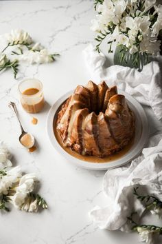 Carrot & Cajeta Bread Pudding