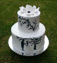 Bielo-čierna svadobná tortička | Autorka: andy611 | Tortyodmamy.sk