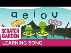 The Long & Short Vowels Song - Scratch Garden! Short Vowel Activities, Phonics Activities, Kids Phonics, Alphabet Phonics, Phonics Lessons, Jolly Phonics, Letter Activities, Reading Activities, Vowel Song