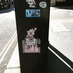 'Chapel, Eau de Pardun' trip to #SavileRow #stickers #tags #stickertags #streetart #graffiti #london
