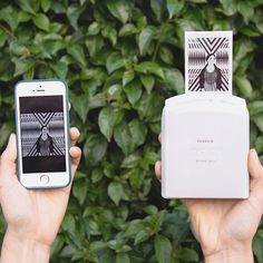 Get your favorite photos from the smartphone or tablet printed instantly anywhere on the go using the Instax Share SP-1 Smartphone Printer by Fujifilm.