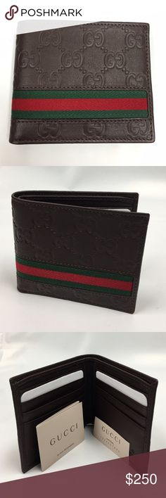 Gucci Wallet Brown GUCCI Guccisima Wallet                         Featuring green-red-green stripes Eight card slots and two bill compartments Open: W21cm x H9cm Closed: W11cm x H9cm Made in Italy  %100 authentic. Comes with original box and paper cover. Gucci Bags Wallets