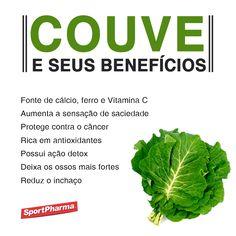Benefícios da couve #saúde #nutrição #alimentação