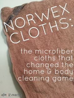 norwex cleaning cloths review I couldn't have said it better!! I personally kick acne to the curb with these cloths!