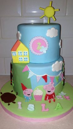 Peppa Pig House Cake Everything Completely Edible  Peppa Pig - Owl percy pig birthday cake