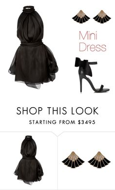 """""""Mini dress"""" by zoew2008 ❤ liked on Polyvore featuring Brandon Maxwell and Miss Selfridge"""