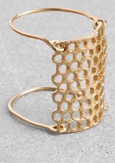 Lara Melchior honeycomb double ring | & Other Stories