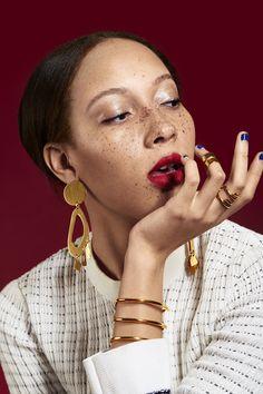 """Jewelry to Buy Yourself From Racked's jewelry editorial, """"Big-Ass Jewelry to Buy Yourself"""".From Racked's jewelry editorial, """"Big-Ass Jewelry to Buy Yourself"""". Big Jewelry, Jewelry Model, Stone Jewelry, Arrow Jewelry, Gold Jewellery, Silver Jewelry, Hipster Grunge, Grunge Goth, Jewelry Editorial"""
