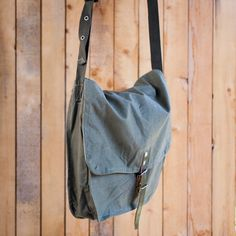 Vintage messenger bag canvas crossbody bag soviet by ValDoVintage