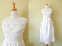 Vintage White Dress  Lace White Dress  White by GracedVestige, $38.00