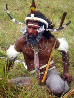 Etnia en región de Papua, Indonesia